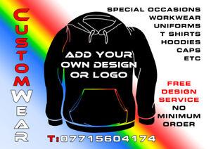 554c590491 Image is loading Promotional-Clothing-Customised-T-Shirt -Sweatshirts-Hoodies-Caps-