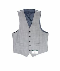 Lauren by Ralph Lauren Mens Vest Gray Size Medium M Hitchcock Wool $125 027
