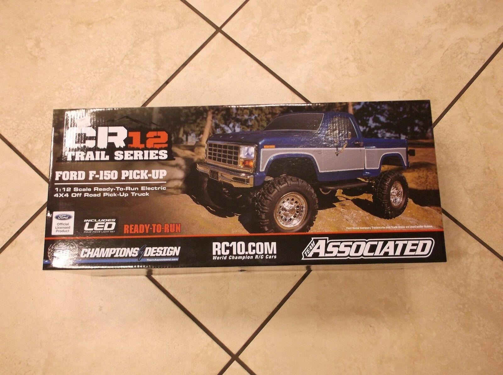 Nuevo CR12 Ford F-150 (Azul) Team Associated listos para para para ejecutarse Radio Control Truck 1 12 40002  ventas al por mayor