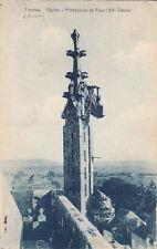 TANNAY église pinacle de la tour écrite