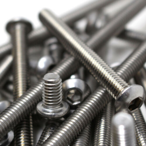 """UNC BUTTON HEAD BOLTS A2 STAINLESS SOCKET SCREW 8-32/"""" HARLEY IMPERIAL"""