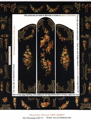 1:24 scale Natasha Beshenkovsky/'s Mini Decoupage~ Piano ~ Harpsichord HALF SCALE