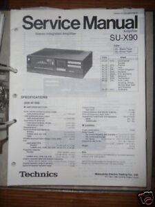 In Aroma Freundschaftlich Service Manual Technics Su-x90 Amplifier,original Duftendes