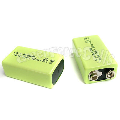 1 x 9V 9.0 V 400mAh Ni-MH Rechargeable Battery Green
