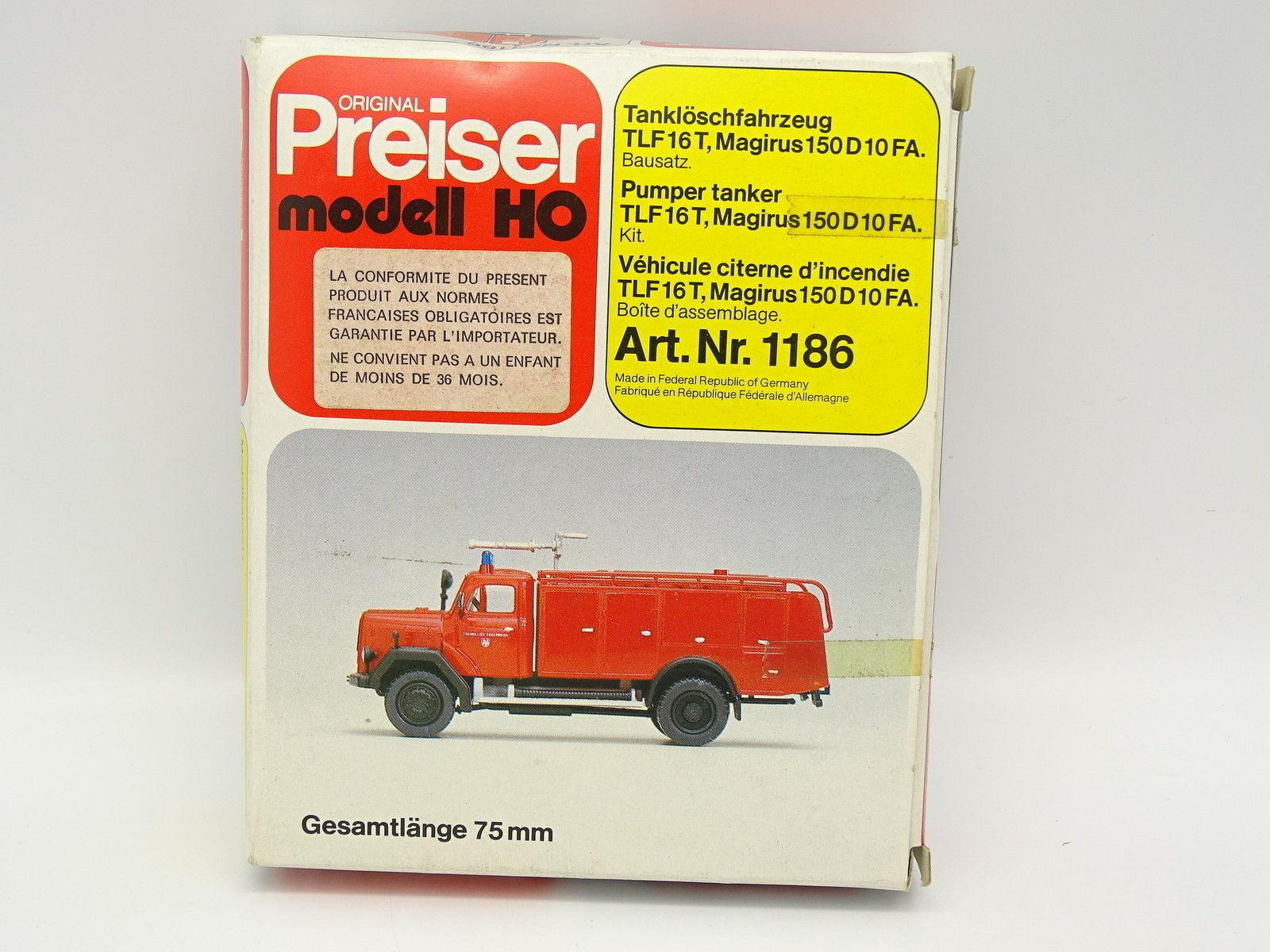 tienda en linea Preiser Preiser Preiser Kit para Montar 1 87 Ho - Magirus F150 D10 Fa Bomberos Feuerwehr  venta caliente