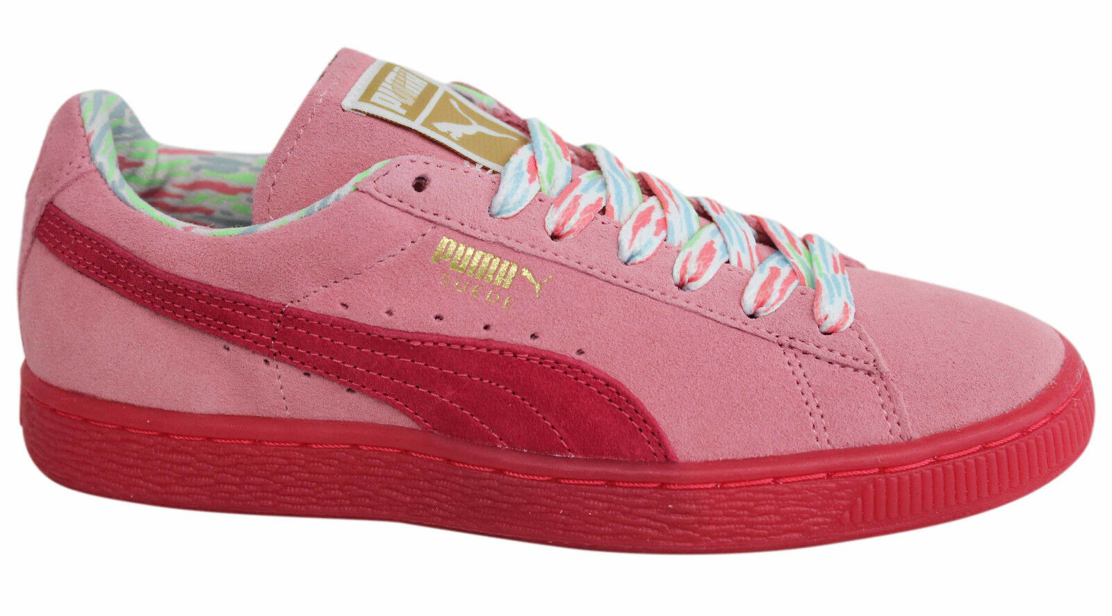 Puma Suede Lace Classic Lo Coast Donna Lace Suede Up Pink Trainers 357514 01 M1 9f9fa6