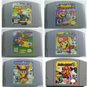 Mario-Kart-64-Video-Game-Cartridge-for-Nintendo-N64-Console-Party-123-Classic