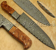 BEAUTIFUL HAND MADE DAMASCUS STEEL CHEF KNIFE / KITCHEN KNIFE / HUNTING KNIFE