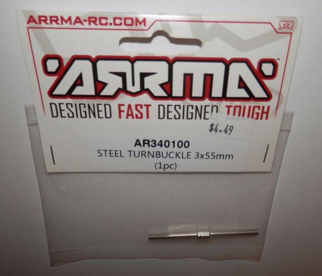 Nero 6S Nero Fazon Arrma AR340100 Steel Turnbuckle 3X55MM 1Piece