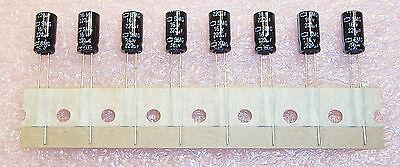 QTY (100) 220uf 16V 6.3x11 RADIAL ALUMINUM ELECTROLYTIC ESMG160ETD221MF11N  ROHS