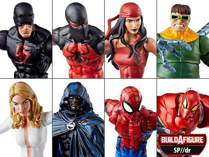 Marvel Leyendas Spiderman Onda 8 Conjunto de 7 Figuras De Acción De Dr Baf SP