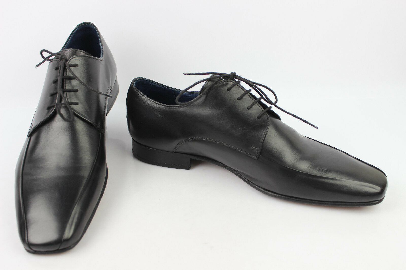 Derby THOMAS STRENTON In Pelle Cucito Nero T 44 OTTIME CONDIZIONI Scarpe classiche da uomo