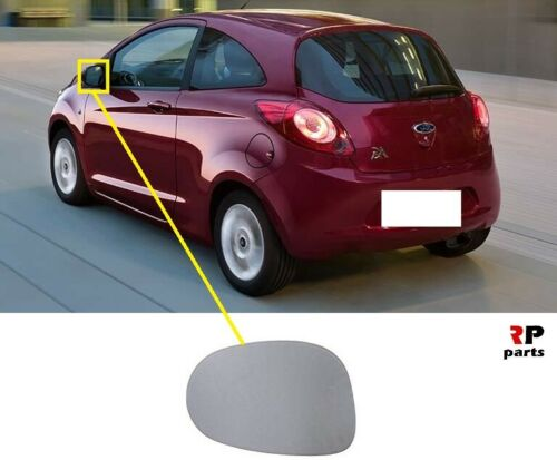 FOR FORD KA 08-15 WING MIRROR GLASS HEATED WITH FRAME LEFT N//S