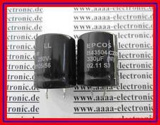 EPCOS Capacitor Aluminum 330µF 250V 20% 105C Snap Typ:B43504C2337M 2 Stück