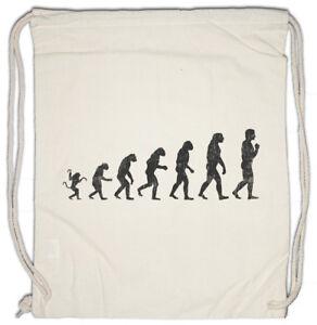 Human-Evolution-Turnbeutel-Fun-Geek-Nerd-Ape-Apes-Darwin-Biologist-Affe-Affen