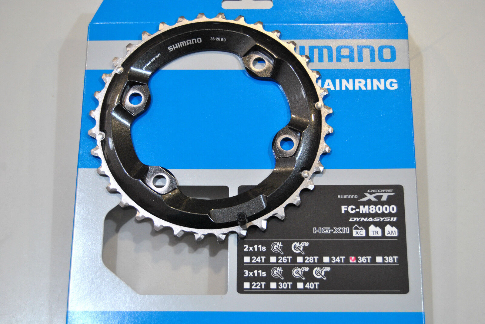 Corona SHIMANO XT 36T BC FC-M8000 ( 36x26 )/CHAINRING SHIMANO XT 36T BC FC-M8000