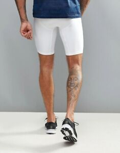 NEW men's Under Armour 2.0 mesh compression short | small | white | free ship