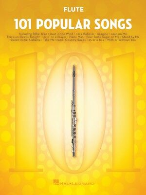 Sincere 101 Popular Songs For Flute Instrumental Folio Book New 000224722 Wind & Woodwinds