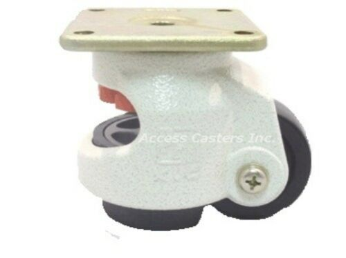 """AC-2714 2/"""" Leveling Caster Square Top Plate 550 lbs Capacity Nylon Wheel"""