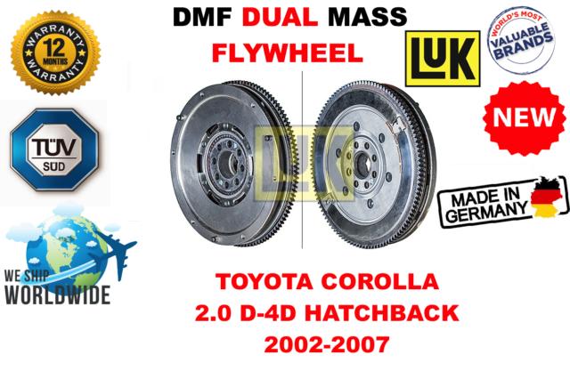Para Toyota Corolla 2.0D - 4d Hatchback 2002-2007 Nuevo Dual Mass Dmf Volante