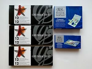Details About New Set Winsor Newton And Grumbacher Watercolor Paint