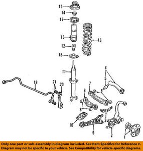 Acura Honda Oem 9698 Tl Rearshock Absorber Or Strut 52611sz5a02 Ebay. Is Loading Acurahondaoem9698tlrearshock. Acura. 2000 Acura Tl Rear Diagram At Scoala.co
