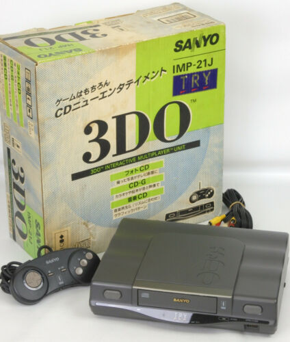 SANYO 3DO TRY Console System Boxed Tested IMP21J JAPAN Game Ref39012122