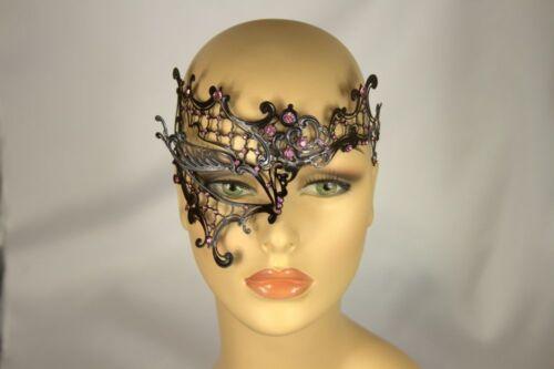 Phantom Of the Opera Metal Filigree Laser Cut Masquerade Mask w// Rhinestones