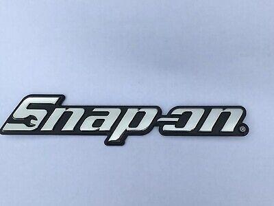 Amabile Snap On Tools Toolbox Logo Nameplate Brand New W/ Peel & Stick Mounting Adhesive