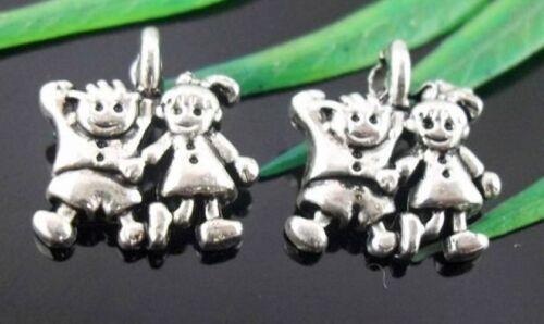 Wholesale 47//102Pcs Tibetan Silver Child Charms 12x13mm Lead-free