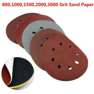 25pcs-Mix-800-1000-1500-2000-3000-Grit-8-Hole-Hook-Loop-Sand-Paper-Sanding-Discs