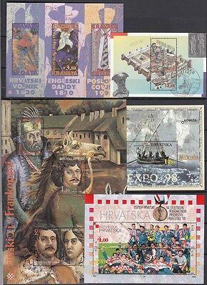 22455 Die Nieren NäHren Und Rheuma Lindern 1995/98 Block 11-15 Gestempelt, Kroatien