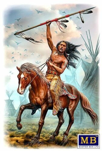 Master Box Buffalo Hunter Running Bear 1//24 MB24048 Miniatures Indianer Amerika