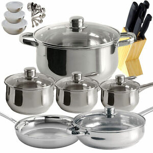 Freedom Gourmet Cookware 31-pc Stainless Steel Kitchen Cooking Set