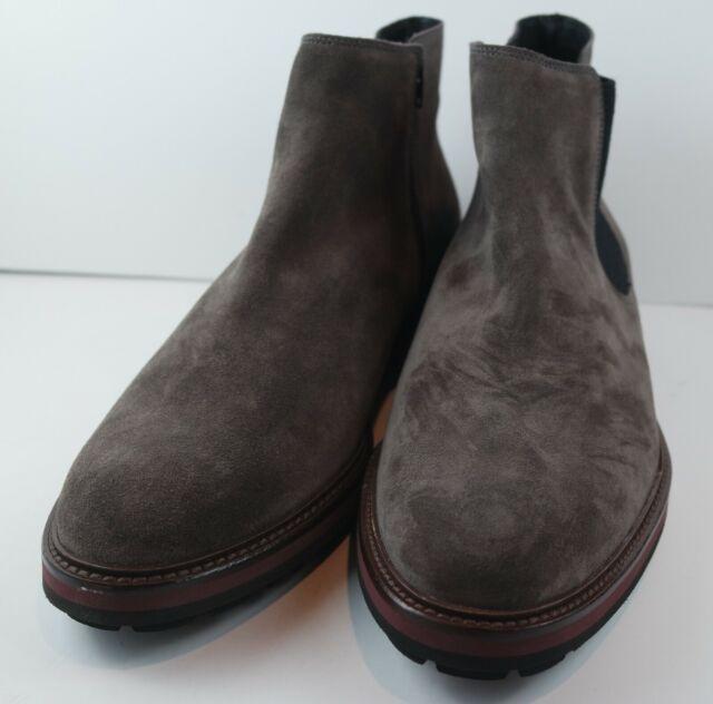 Mephisto Men's Benson Dark Gray Suede Ankle Boots MSRP $271 Size 12 M