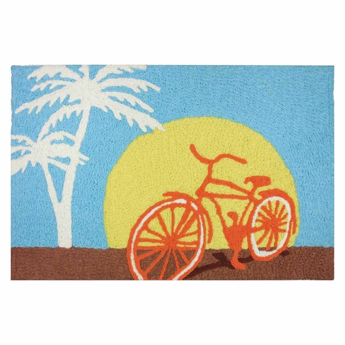 Palm Beach Bicycle Bike Sunset - Floor Rug - JB-SK001