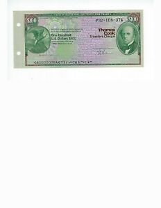 THOMAS-COOK-100-U-S-DOLLARS-ISSUED-BUT-NEVER-SIGNED-CIRCA-1970-80-UNC