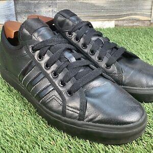 UK10-Adidas-Nizza-Triple-Black-Skateboard-Shoe-Basketball-Style-Trainers