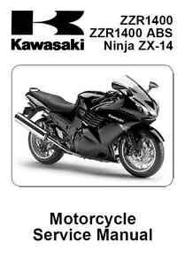2008 2009 2010 kawasaki ninja zx 14 zzr1400 abs service manual in rh ebay com