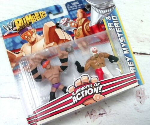 New WWE Rumblers ZACK RYDER & REY MYSTERIO Wrestling Action Figures Toy