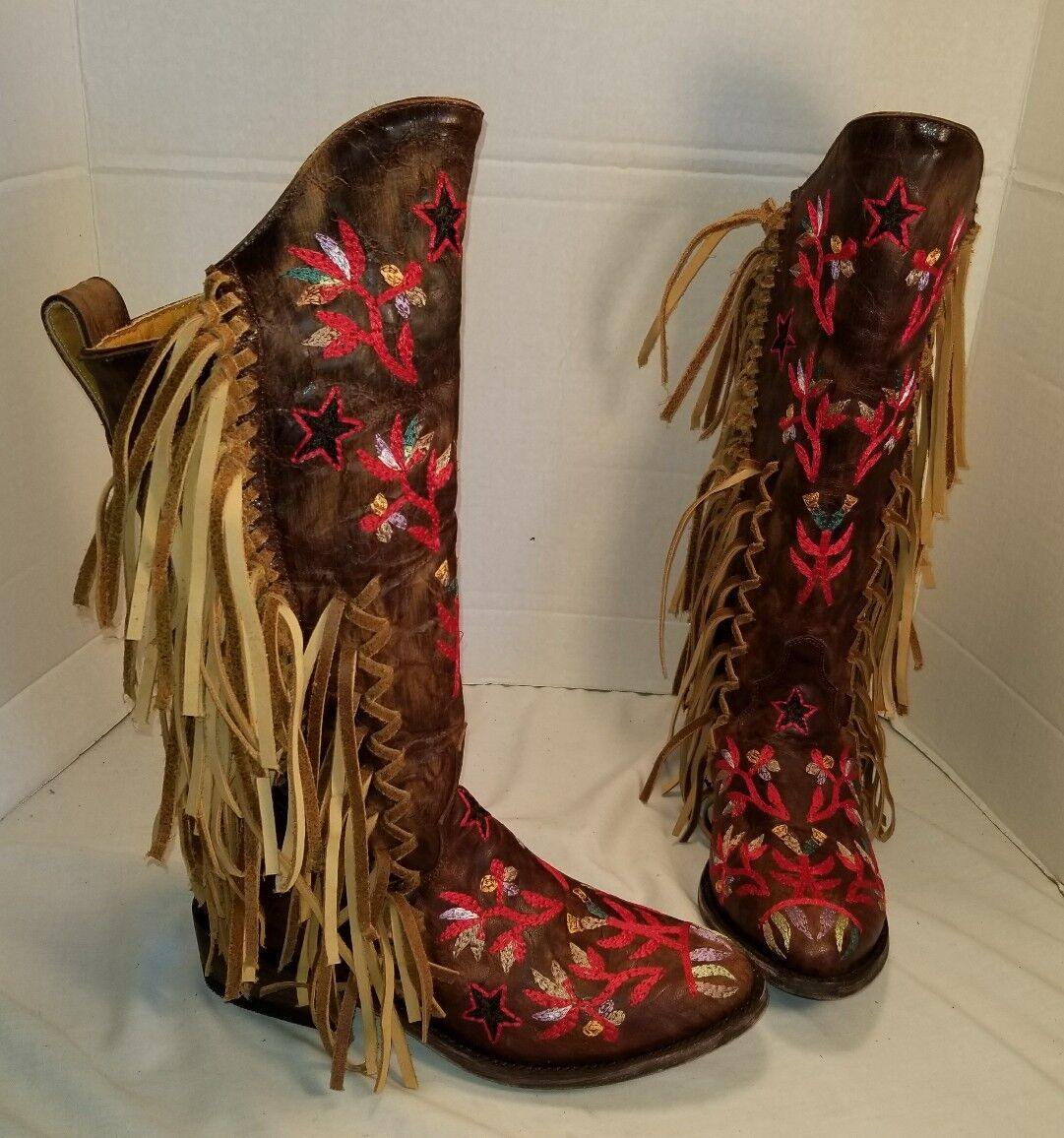 NEW MEXICANA CROSS TRAIN TRAIN TRAIN WESTERN LEATHER BOOTS US 7 EUR 37 MSRP  798.00 a9719c