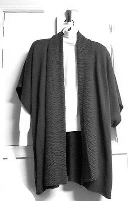 Sweater Vest Poncho Sleeve Vest Cardigan New One-Size Turtleneck NOT Included