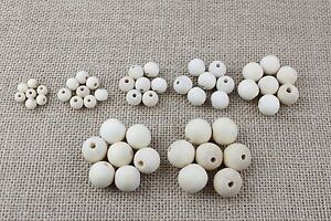 Various-Sizes-Of-Plain-Unfinished-Wooden-Beads-Craft-Jewellery-Making-6-20mm