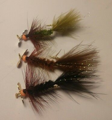 Sold Per 3 Freshwater//Trout Blood Buggers Spinner Assortment! New! Size 6