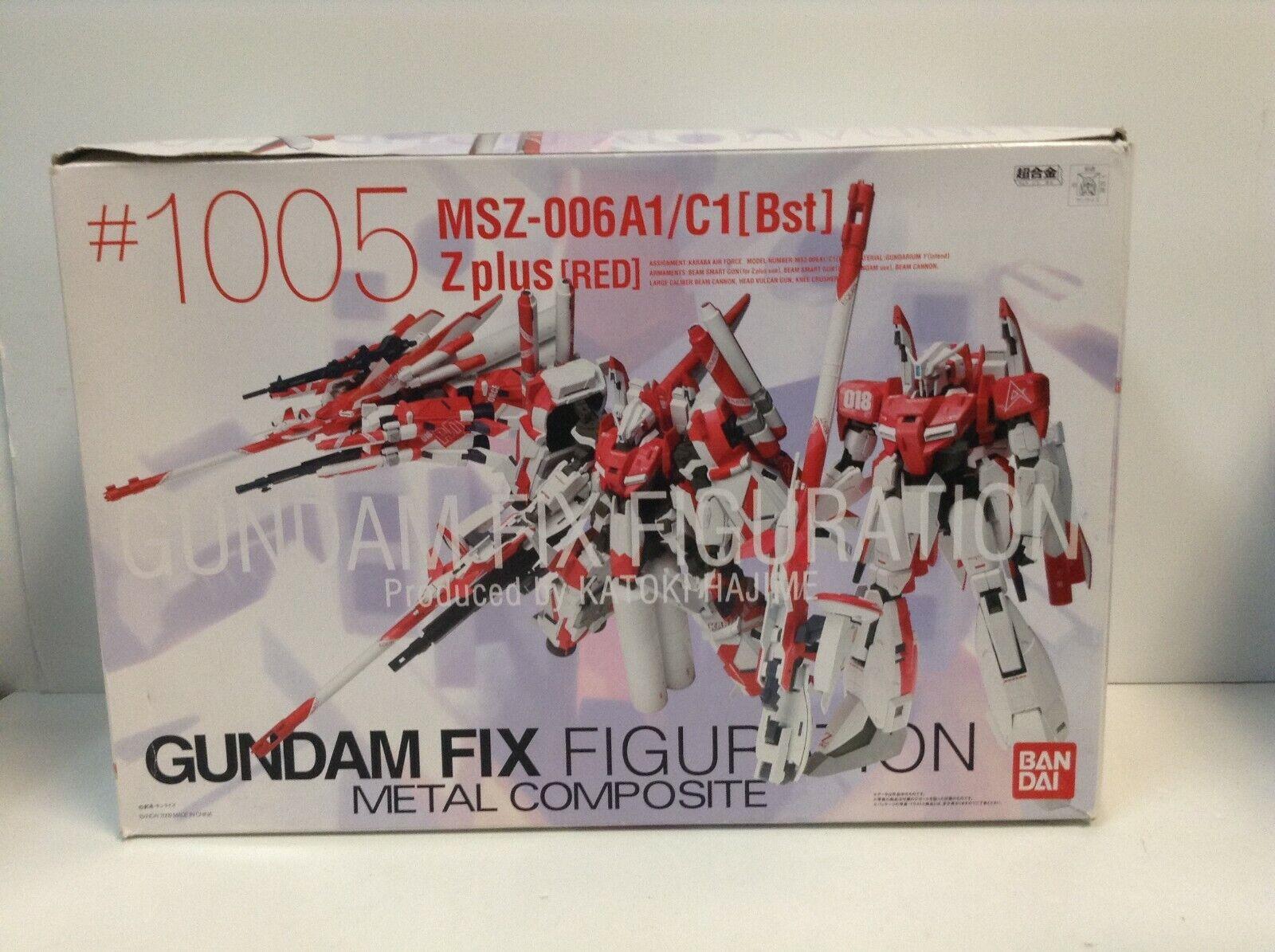 Mobile Suit Gundam-MSZ-006A1 C1 BST Zplus Rojo Fix figuración Bandai Menta en caja