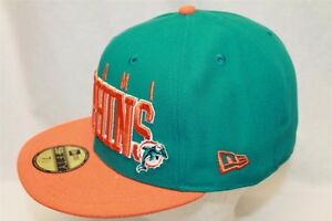 innovative design aa9cb b01bc Image is loading MIAMI-DOLPHINS-Hat-Cap-NFL-NEW-ERA-59FIFTY-