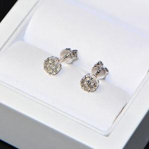 Diamant-Ohrstecker-0-45-ct-in-750er-Weissgold-18K-Ohrringe-rund-Brillant-pave