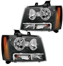07-09 CHEVY AVALANCHE/SUBURBAN/TAHOE HEADLIGHTS FRONT LAMPS PAIR SET