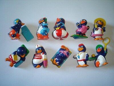 KINDER SURPRISE SET - PINGUI BEACH PENGUINS VACATION 1994 FIGURES COLLECTIBLES !