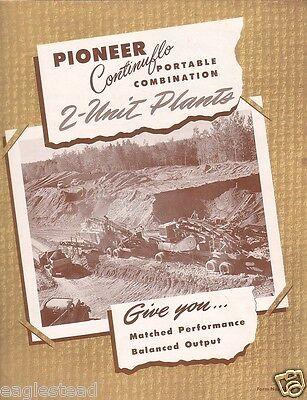 Equipment Brochure - Pioneer - 2 Unit Rock Crushing Screening Plants (EB717)